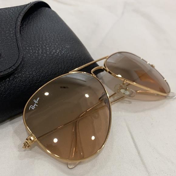 Used Aviator Ray Ban Sunglasses